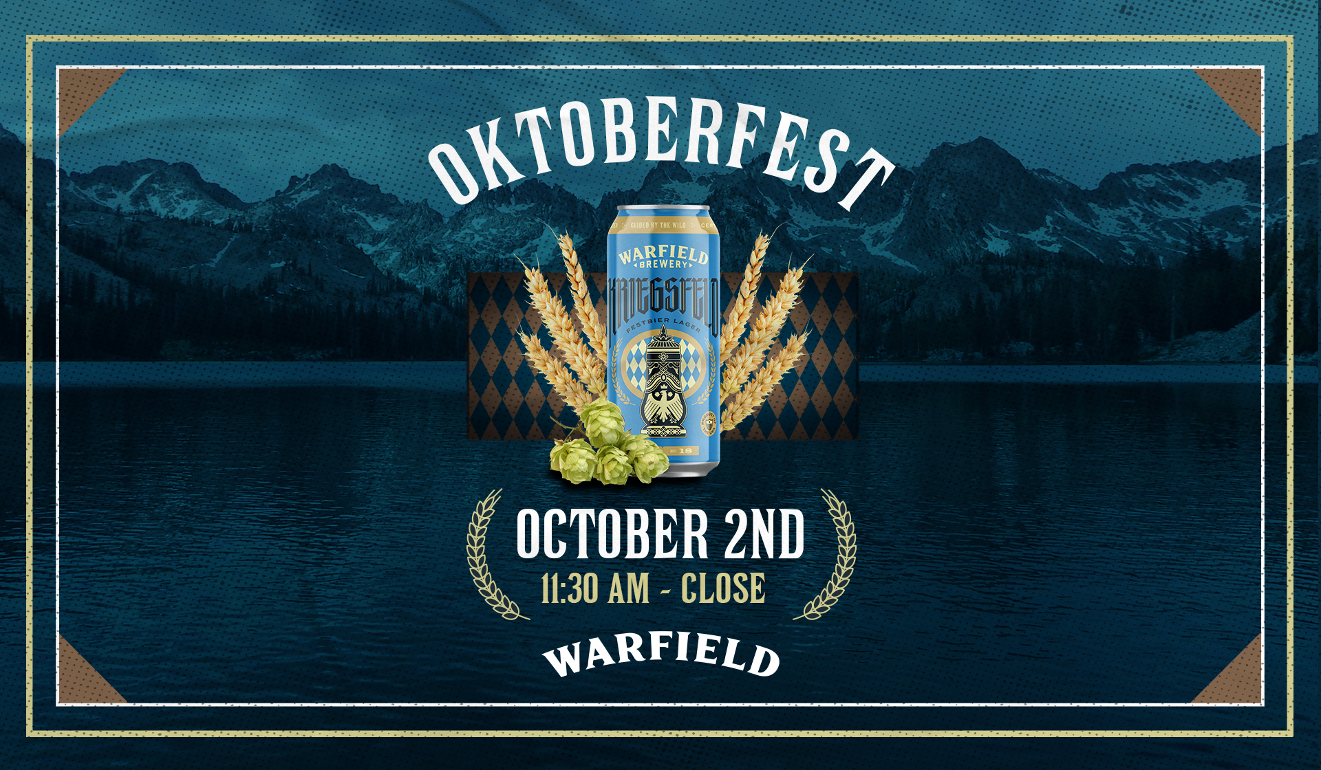 Cans of Warfield organic beer